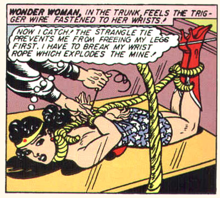 (though Wonder Woman does get tied up with startling frequency)