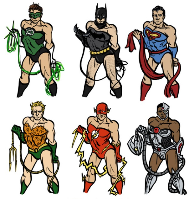 Justice League Strike a Pose