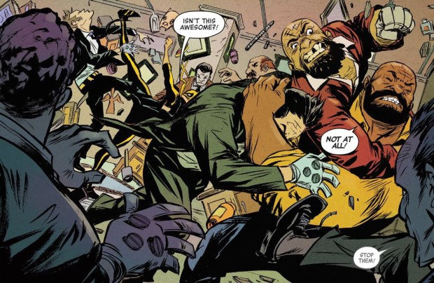 Power Man and Iron Fist Fight
