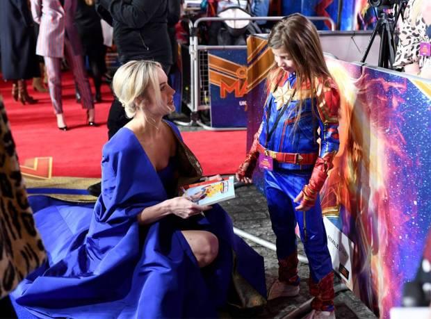 Brie Larson Meets Fan